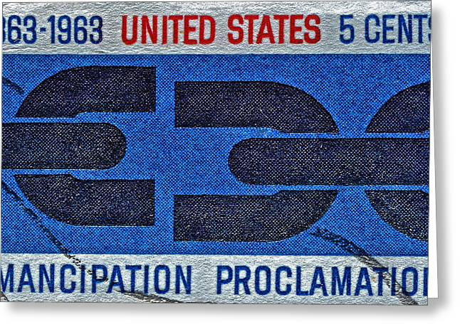 Proclamation Greeting Cards - 1963 Emancipation Proclamation Stamp Greeting Card by Bill Owen