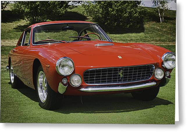 Garage Greeting Cards - 1963 Ferrari 250 GT Lusso Greeting Card by Sebastian Musial