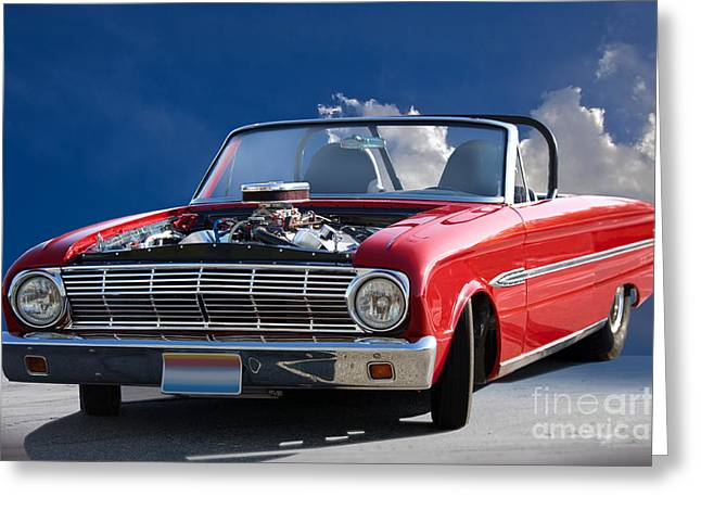 Ford Falcon Coupe Greeting Cards - 1963 Ford Falcon Futura Convertible Greeting Card by Dave Koontz