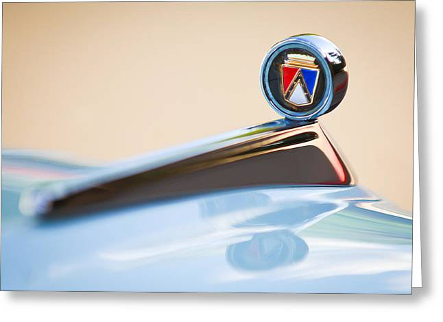 1963 Ford Greeting Cards - 1963 Ford Falcon Futura Convertible  Hood Ornament Greeting Card by Jill Reger