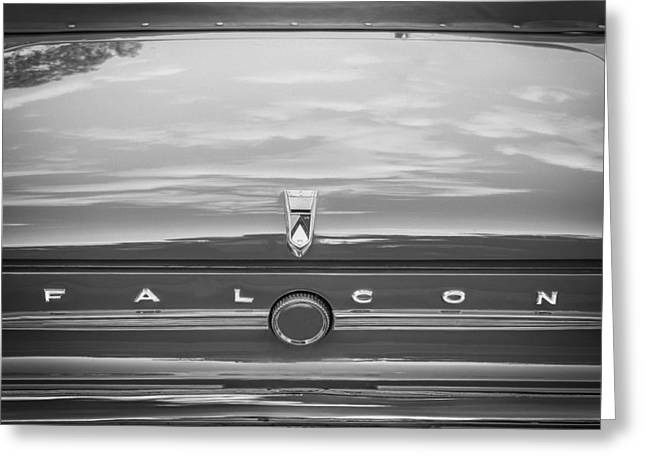 1963 Ford Falcon Sprint Greeting Cards - 1963 Ford Falcon Sprint Convertible BW    Greeting Card by Rich Franco