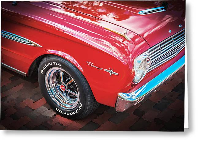 1963 Ford Greeting Cards - 1963 Ford Falcon Sprint Convertible  Greeting Card by Rich Franco