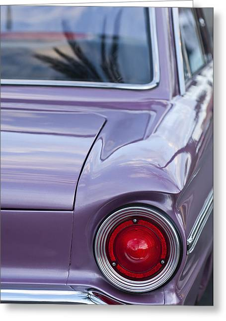 1963 Ford Greeting Cards - 1963 Ford Falcon Tail Light Greeting Card by Jill Reger