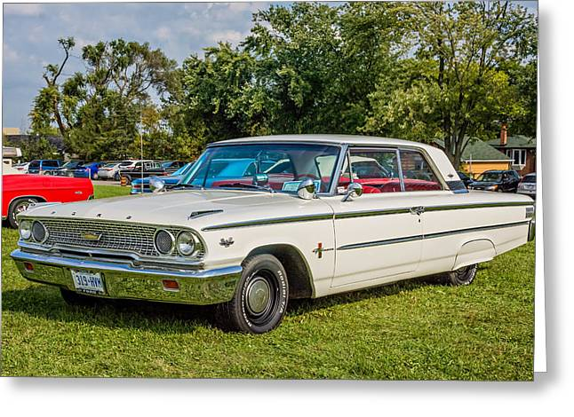1963 Ford Greeting Cards - 1963 Ford Galaxie 500XL Hardtop Greeting Card by Steve Harrington