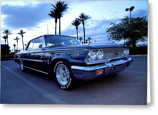 1963 Ford Galaxie Greeting Card by Paul Swanson