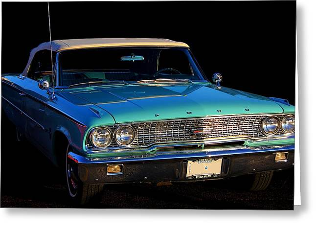1963 Ford Galaxy Greeting Card by Davandra Cribbie