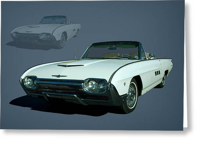 1963 Ford Greeting Cards - 1963 Ford Thunderbird Convertible Greeting Card by Tim McCullough