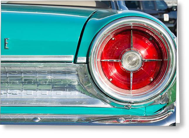 1963 Ford Greeting Cards - 1963 Galaxie Taillight Greeting Card by Classic Visions
