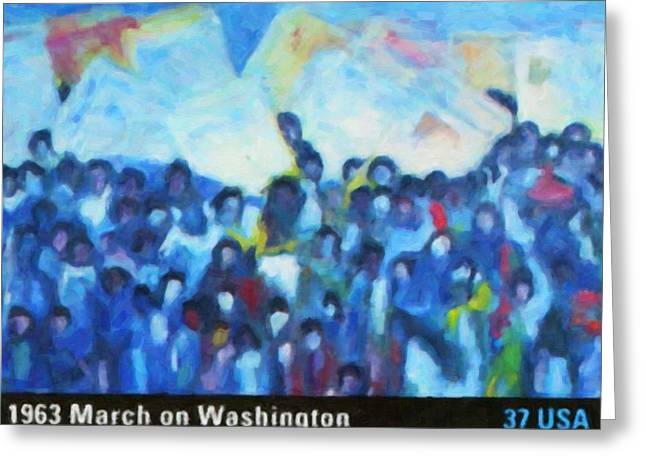 Protesters Greeting Cards - 1963 March on Washington Greeting Card by Lanjee Chee