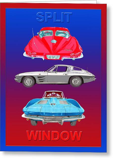 Is The Way Greeting Cards - 1963 Split Window Corvette Greeting Card by Jack Pumphrey