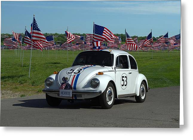 The Love Bug Greeting Cards - 1963 VW Herbie  Greeting Card by Tim McCullough