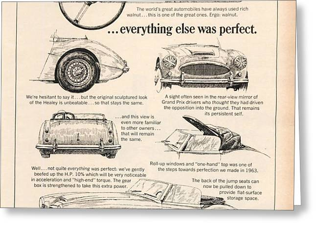 1964 Austin Healey Greeting Card by Nomad Art And  Design