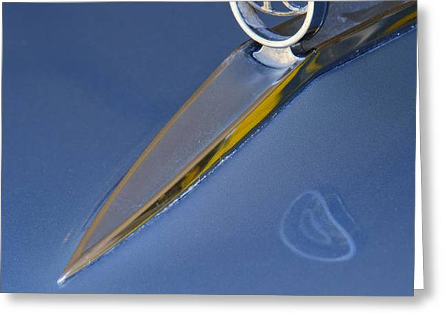 1964 Buick Riviera 2 Door Hardtop Hood Ornament Greeting Card by Jill Reger