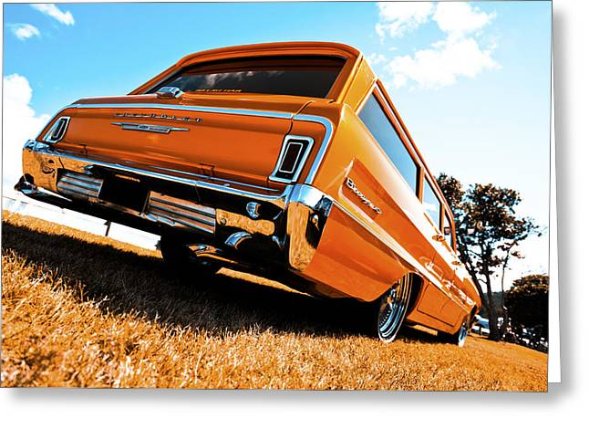 Phil Motography Clark Photographs Greeting Cards - 1964 Chevrolet Biscayne Greeting Card by motography aka Phil Clark