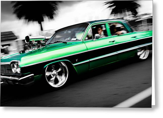 Phil Motography Clark Greeting Cards - 1964 Chevrolet Impala Greeting Card by Phil