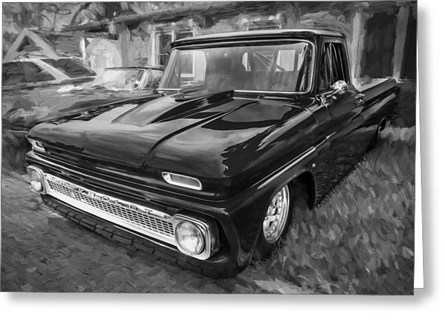1960 Greeting Cards - 1964 Chevy C10 Pick up Truck Painted BW    Greeting Card by Rich Franco