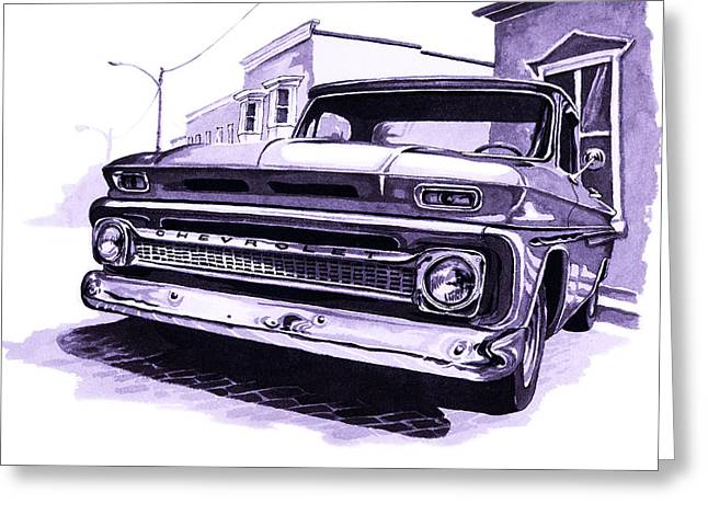 Classic Pickup Paintings Greeting Cards - 1964 Chevy Pick Up Greeting Card by Neil Garrison