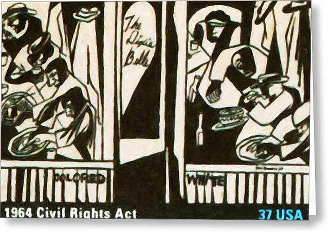 Desegregation Greeting Cards - 1964 Civil Rights Act Greeting Card by Lanjee Chee
