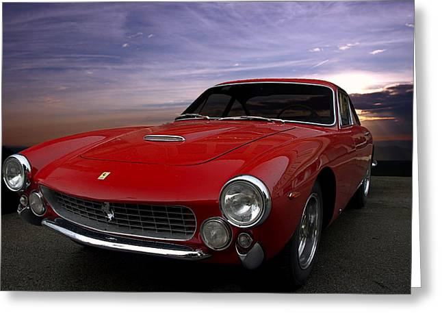 Teemack Greeting Cards - 1964 Ferrari 250 GT Lusso Berlinetta Greeting Card by Tim McCullough