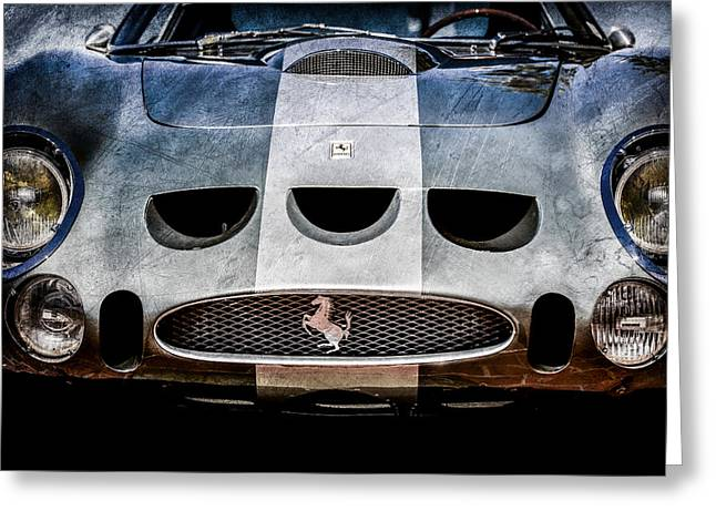 Colored Photographs Greeting Cards - 1964 Ferrari 275 GTB-C Speciale Grille -0959ac Greeting Card by Jill Reger