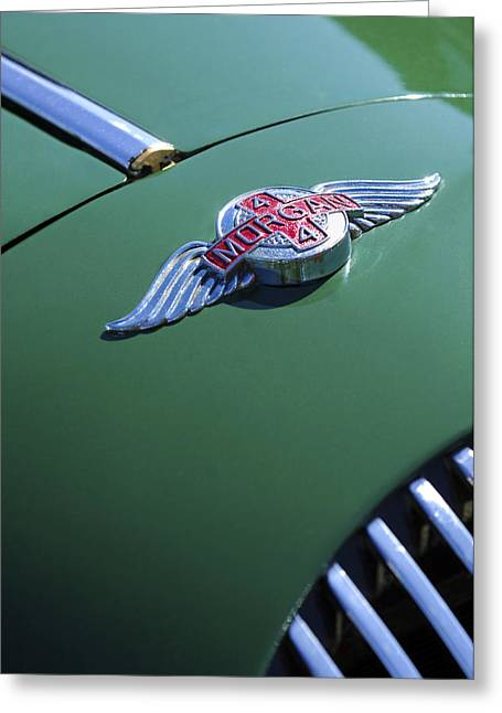 Recently Sold -  - 1960 Greeting Cards - 1964 Morgan 44 Hood Ornament Greeting Card by Jill Reger