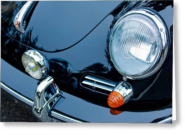 Headlight Greeting Cards - 1964 Porsche 356 C Cabriolet Headlight Greeting Card by Jill Reger