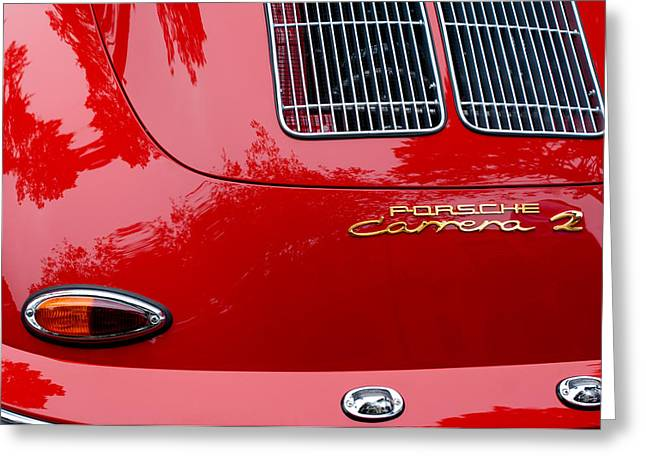 Famous Photographers Greeting Cards - 1964 Porsche 356 Carrera 2 Taillight Emblem Greeting Card by Jill Reger