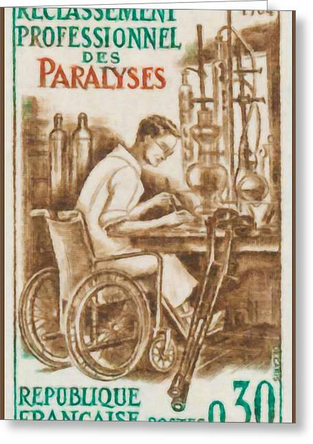 Paralyzed Greeting Cards - 1964 RECLASSIFICATION PROFESSIONAL paralyzed Greeting Card by Lanjee Chee