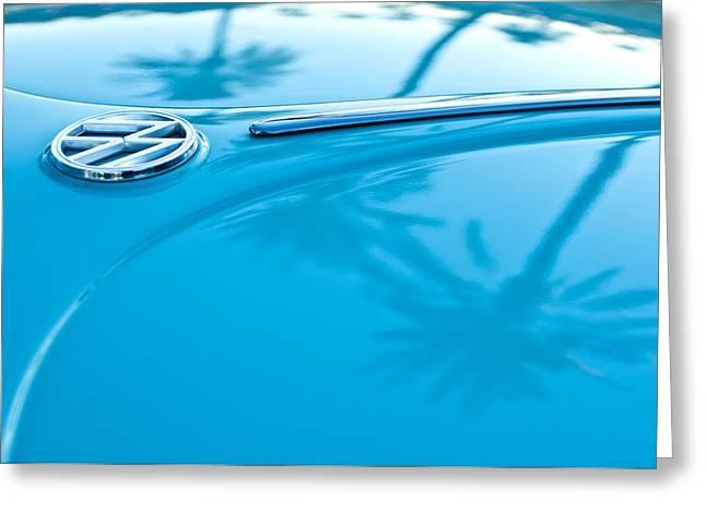 1964 Greeting Cards - 1964 Volkswagen VW Bug Emblem Greeting Card by Jill Reger