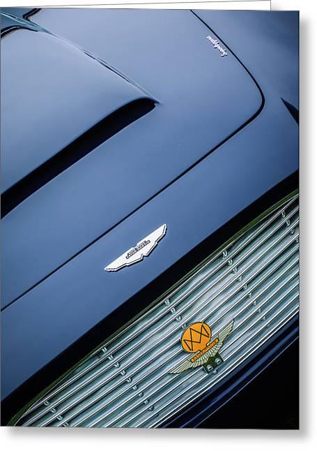 1965 Aston Martin Short Chassis Volante Hood Emblem -1172c Greeting Card by Jill Reger