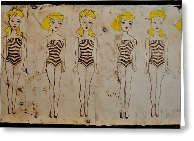 1965 Barbie Print Greeting Card by Katie Barrett