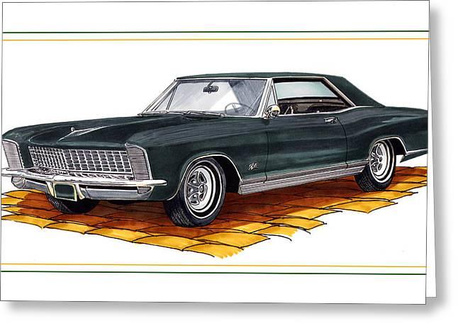 1965 Buick Riviera Custom Greeting Card by Jack Pumphrey