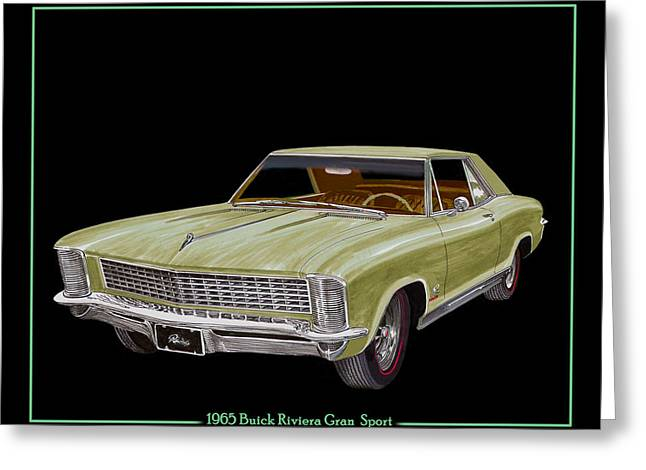 Stiff Greeting Cards - 1965 Buick Riviera Gran Sport Greeting Card by Jack Pumphrey