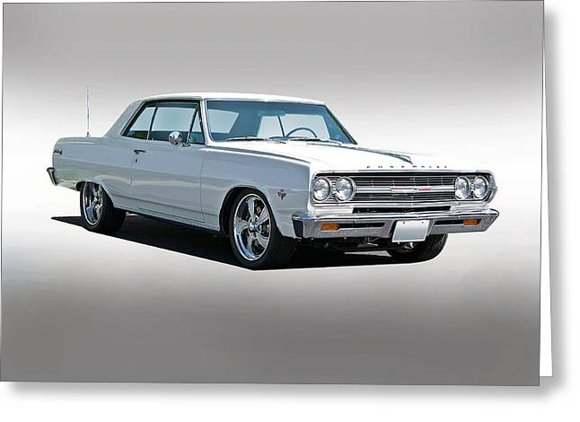 American Automobiles Greeting Cards - 1965 Chevelle Malibu SS Greeting Card by Dave Koontz