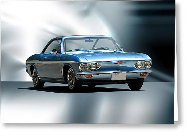 Injection Greeting Cards - 1965 Chevrolet Corvair I Greeting Card by Dave Koontz