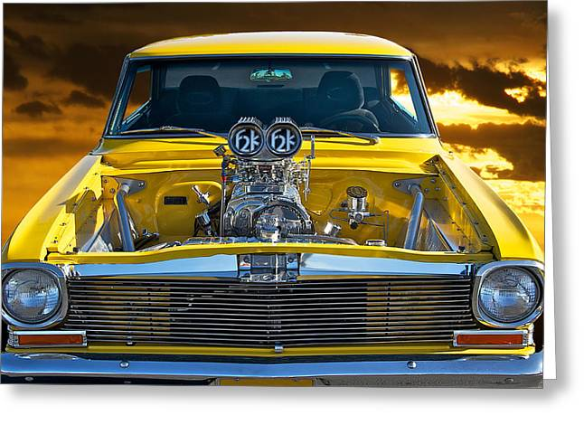 American Automobiles Greeting Cards - 1965 Chevrolet Nova Greeting Card by Dave Koontz