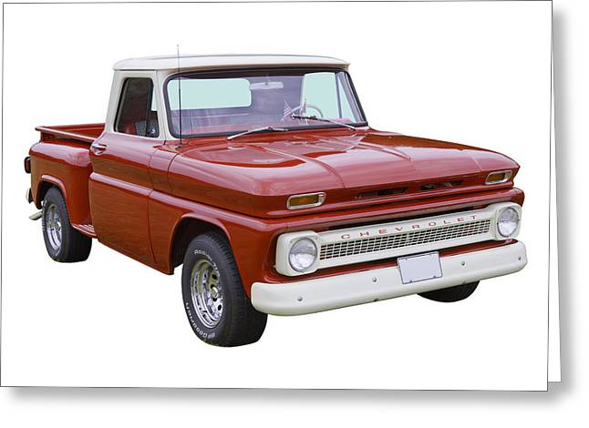 Classic Truck Greeting Cards - 1965 Chevrolet Pickup Truck Greeting Card by Keith Webber Jr
