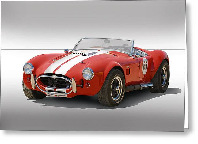 High-performance Luxury Car Greeting Cards - 1965 Cobra No 65 Greeting Card by Dave Koontz