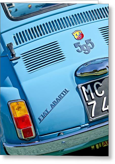Beach Photograph Greeting Cards - 1965 Fiat Taillight Greeting Card by Jill Reger