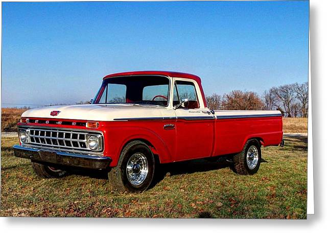Wimbledon Photographs Greeting Cards - 1965 Ford F250 Camper Special Greeting Card by Jean Hutchison