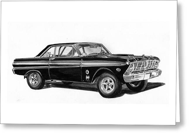 Custom Ford Greeting Cards - 1965 Ford Falcon Street Rod Greeting Card by Jack Pumphrey