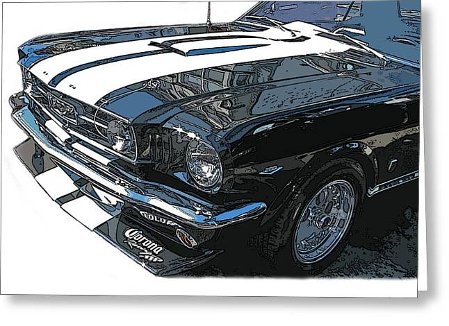 Sheats Greeting Cards - 1965 Ford Mustang GT Greeting Card by Samuel Sheats