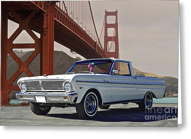 Family Car Greeting Cards - 1965 Ford Ranchero V Greeting Card by Dave Koontz