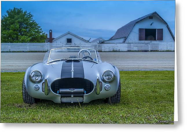 Carol Shelby Greeting Cards - 1965 Ford Shelby Cobra American Roadster Greeting Card by Ken Morris