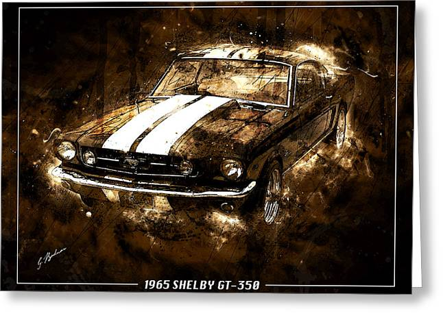 Fast Cars Greeting Cards - 1965 Ford Shelby Mustang GTO-350 #5 Greeting Card by Gary Bodnar
