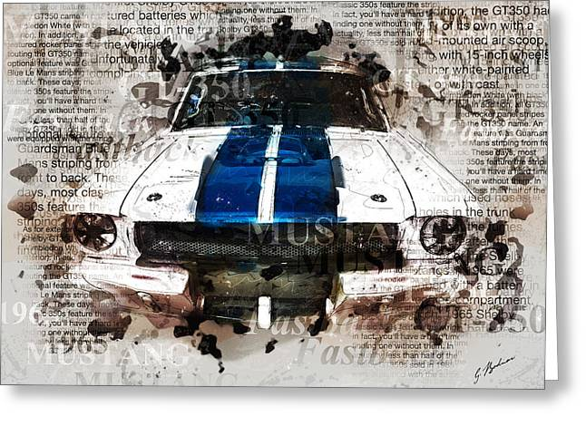Fast Cars Greeting Cards - 1965 Ford Shelby Mustang GTO-350 II Greeting Card by Gary Bodnar