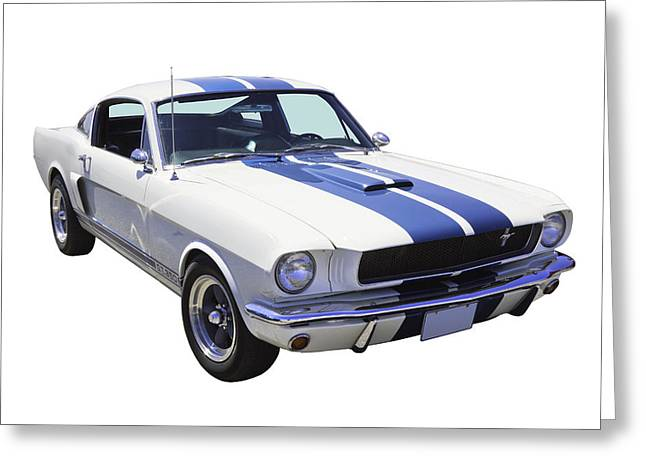 Blue Classic Car Greeting Cards - 1965 GT350 Mustang Muscle Car Greeting Card by Keith Webber Jr
