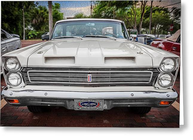 289 Motor Greeting Cards - 1965 Mercury Comet Cyclone GT  Painted  Greeting Card by Rich Franco