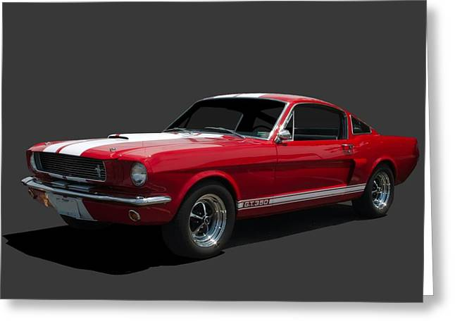 Mustang Fastbacks Greeting Cards - 1965 Mustang Fastback GT 350 Greeting Card by Tim McCullough