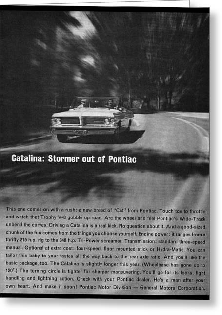 Pontiac Motors Division Greeting Cards - 1965 Pontiac Catalina Greeting Card by Digital Repro Depot